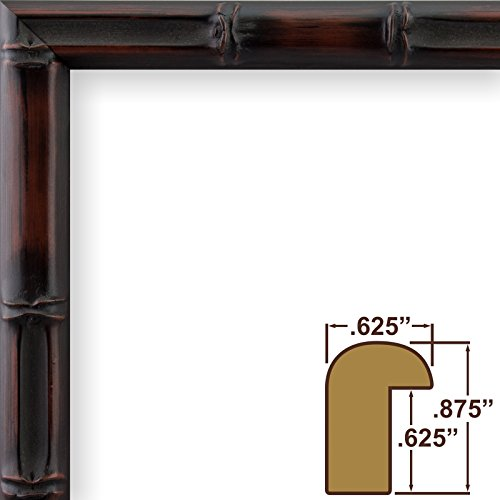Craig Frames 8575 11 by 14-Inch Picture Frame, Bamboo Composite Finish, .625-Inch Wide, Brushed Mahogany and - Frame Bamboo