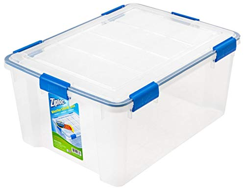 Plastic Box Speedy (Ziploc Weathertight Storage Box, 60-Quart, 11 1/5