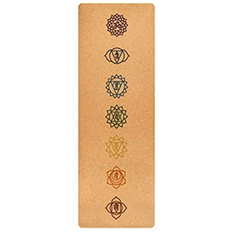 AJIAMA 183X68Cm Corcho Natural TPE Yoga Mat Fitness Gym ...