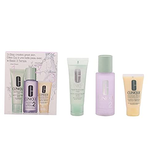Clinique 3-step Skin Care System 3 Piece Set for Women, Skin Type 2 Dry Combination - 2 Step System