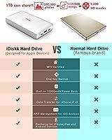 1000GB (1TB) Disco Duro Externo para iPhone11/ 5/6/7/8 / X, XR/XS ...