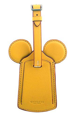 Coach Luggage Tags - COACH MICKEY Luggage Tag with Mickey Ears (Banana)