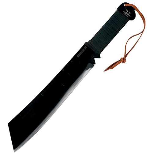 Gil Hibben Rambo IV Machete Knife With Leather Sheath