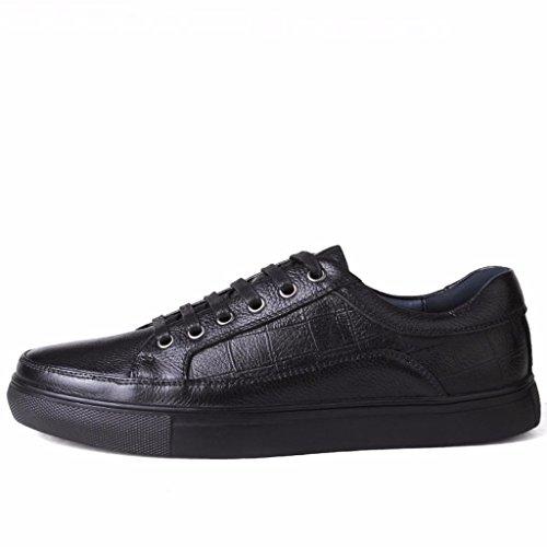 Moonwalker Zapatillas para Hombre en Cuero (EUR 41 ,Negro)