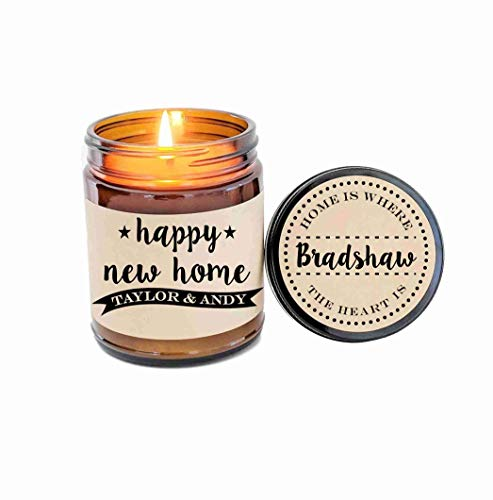 (New Home Gift Housewarming Gift House Warming Gift First Home Gift Scented Candle Gift Personalized Gift for Home Moving Gift Soy Candle)