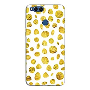 Cover It Up - White Gold pebbles Honor 7x Hard case