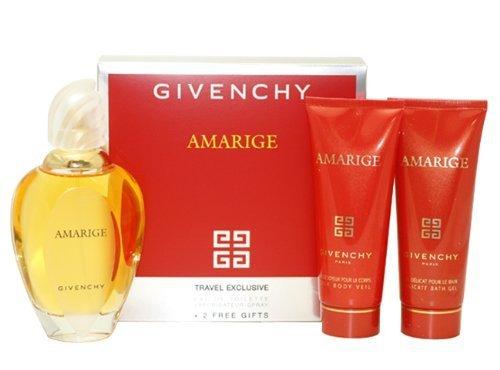 Amarige Givenchy Gift Set 3 Pcs.[3.3 oz. Eau De Toilette Spray+2.5 Oz. Gel+2.5 Oz. Silk Body Veil] Women ()