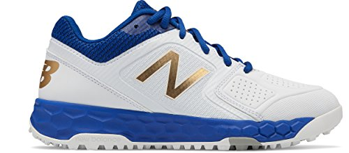 New Balance Women's Velo V1 Turf Softball Shoe Royal/White 7 B US