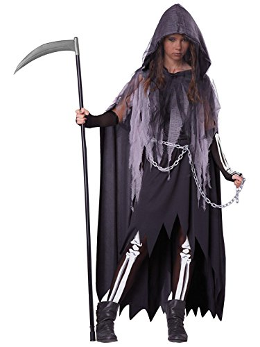 California Costumes Miss Reaper Tween Costume, -