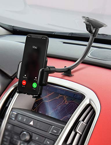 Mpow 033AH Cell Phone Holder for Car, Windshield Long Arm Car Phone Mount with One Button Design and Anti-Skid Base Car Holder Compatible iPhone XS MAX/XS/XR/X/8/7/7P/6s, Galaxy S6/S7/S8,Google,Huawei by Mpow (Image #6)