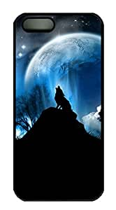iPhone 5s Cases & Covers - Wolf 2 Custom PC Soft Case Cover Protector for iPhone 5s - Black