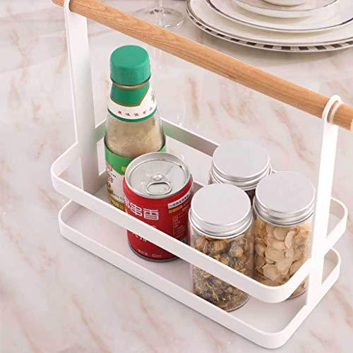 MSOO Kitchen Shelf Seasoning Storage Rack Plastic Finishing Rack Spice Rack Tools