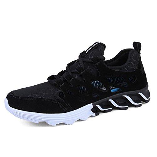 Supshark -Chaussures de Sport Chaussures de Course Hommes Tendance Respirant Plus Collège Chaussures Hommes Occasionnels (41 EU, Brun) Noir