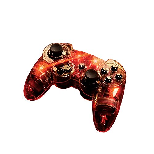 Afterglow Wireless Controller, Red - PlayStation - Wireless Controller Glow Ps3