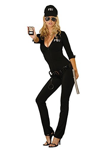 Womens Fbi Costume (Women's Sexy FBI Agent Adult Role Play Costume)