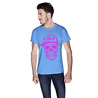 Creo Coco Skullt-Shirt For Men - L, Blue