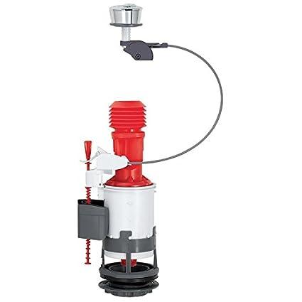 Wirquin Jollyflush 14010401 - Válvula de descarga dual de 50 mm con botón cromático multicolor