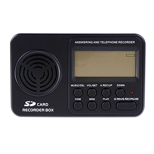 RecorderGear TR500 Landline Phone Call Recorder, Automatic Telephone Recording on Analog Lines ()