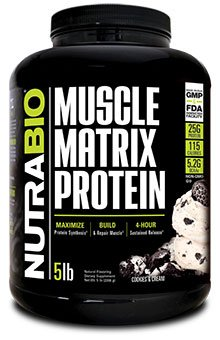 NutraBio Muscle Matrix Protein - Cookies and Cream