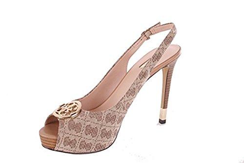 Guess - Zapatos de vestir de Material Sintético para mujer Blau, mehrfarbig, grundton, color beige, talla 39 EU