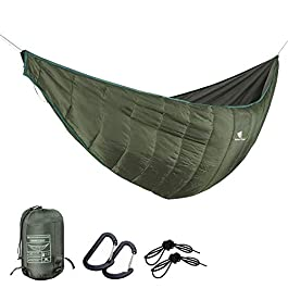 GEERTOP Portable Hammock Quilt Ultralight 3 Seasons Warm Essential Outdoor Survival Gear for Camping Hiking Backpacking…