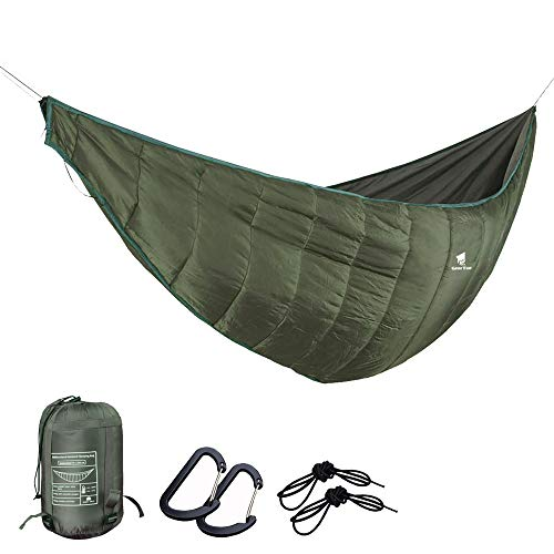 GEERTOP Portable Hammock Quilt Lightweight 3 Seasons Camping Hammock Underquilt Warm Outdoor Sleeping Bag Packable Full Length Under Blanket with Compression Sack for Backpacking Hiking Travel