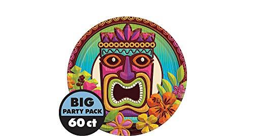 AmscanTropical Tiki Party Dessert Plates, 7