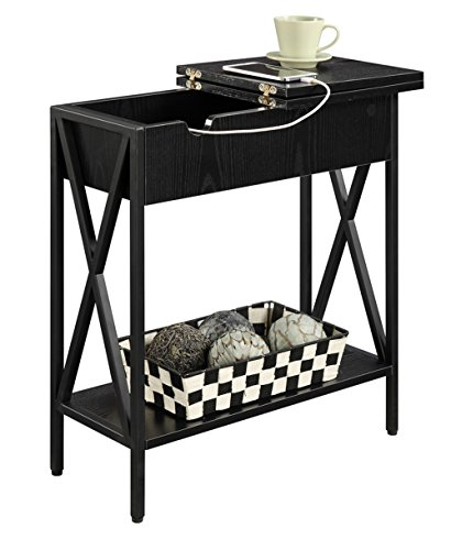 Convenience Concepts Tucson Electric Flip Top Table, Black by Convenience Concepts (Image #1)'