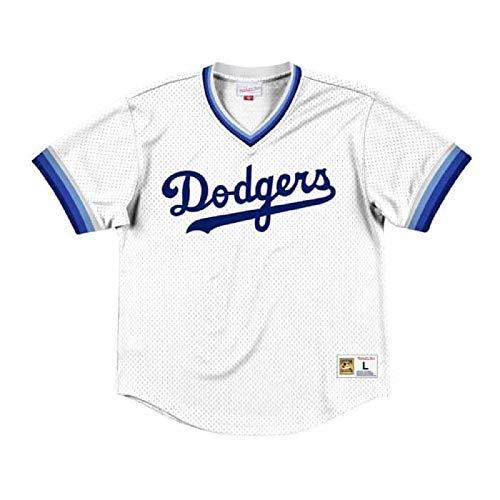 (Mitchell & Ness Los Angeles Dodgers Men's Mesh V-Neck Jersey)