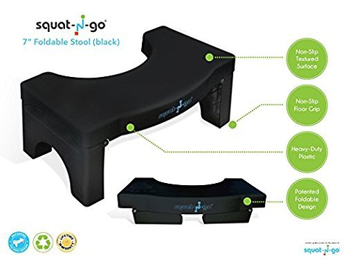 Superb Squat N Go 7 Folding Squatting Stool The Only Foldable Toilet Stool Convenient And Compact Great For Travel Fits All Toilets Folds For Easy Cjindustries Chair Design For Home Cjindustriesco