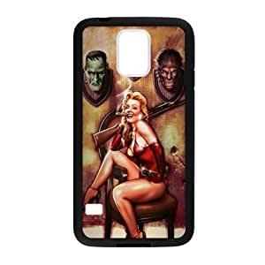 Sexy Pin Up Girl Samsung Galaxy S5 Plastic and TPU (Laser Technology) Case Cover, Cell Phone Cover by runtopwell