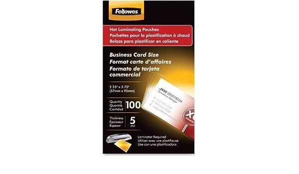 Amazon.com : Laminating Pouches, Business Card, 2-1/4 quot ...