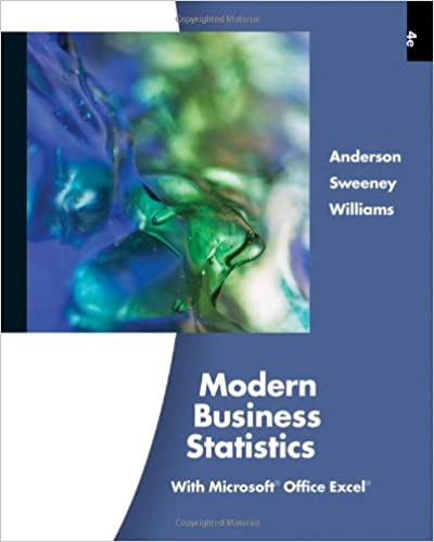 amazon com modern business statistics with microsoft office excel