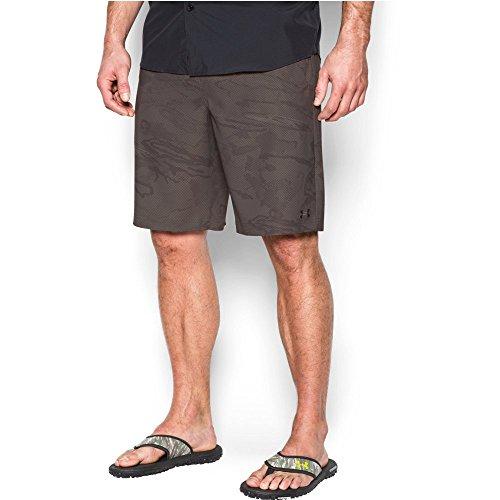 Under Armour Men's Fish Hunter Flat Front Short, Tan Stone (200)/Fresh Clay, 34