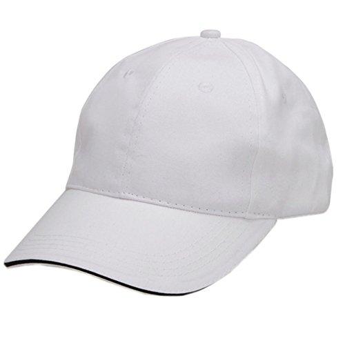 Ayliss® Damen Herren Schirmmütze Sport Mütze kappe Basecap Cappy Golf Baseball Cap Top (Weiß)