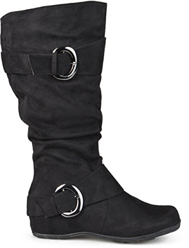 Brinley Co Women's Augusta-02xwc Slouch Boot, Black Extra Wide Calf, 10 M US (Brinley Co Wide Calf Boots Slouch)