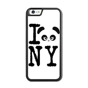 URDesigner Case for iPhone 6, 4.7 inch, Laser Technology,Love Panda Walnut Iphone 6 Bumper Case