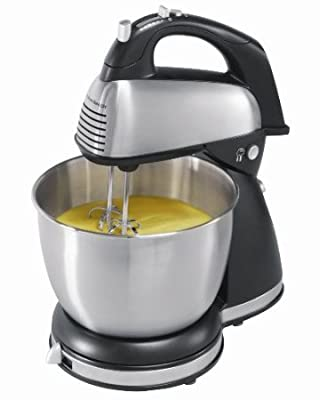 Hamilton Beach 64650 6-Speed Classic Stand Mixer, Stainless Steel from USA