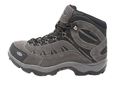 Bandera Black Boots - Hi-Tec Men's Bandera Mid Waterproof Hiking Boot (12 D(M) US, Charcoal/Black/Steel Grey)