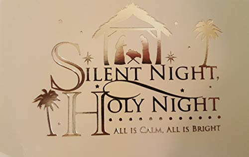 Holiday Boxed Christmas Cards Set of 14 - Variety to Choose From (Silent Night Holy Night)