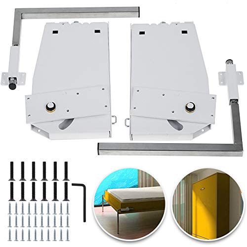 Happybuy DIY Murphy Bed Hardware Kit Vertical Mounting Wall Bed Springs Mechanism Heavy Duty Bed Support Hardware DIY Kit for King Queen Bed (Vertical)