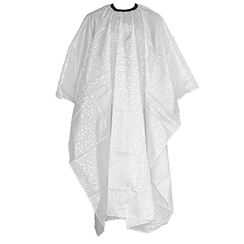 - FENICAL Barbers Hairdressing Cape Salon Hair Cutting Gown (White Silver Star)