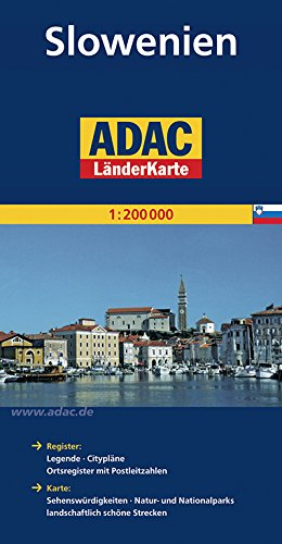 ADAC Länderkarte Slowenien 1:200.000 (ADAC Länderkarten)