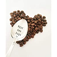 Best Mom Ever Hand Stamped Spoon Gift For Mother Engraved Spoon