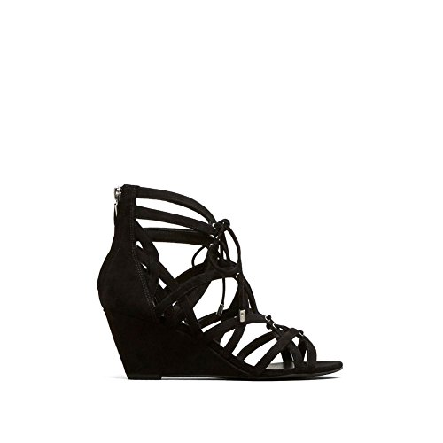 Open Toe Low Wedge (Kenneth Cole New York Women's Dylan Wedge Sandal, Black, 7.5 M US)