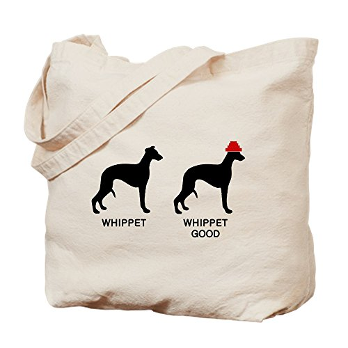 CafePress - WHIPPET, WHIPPET GOOD! - Natural Canvas Tote Bag, Cloth Shopping (Whippet Tote Bag)