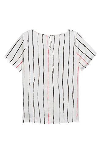 next Mujer Camiseta Satén Manga Corta Regulat/Alto A Rayas