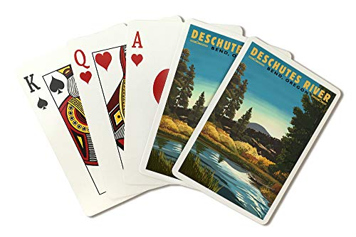 - Bend, Oregon - Newberry Volcano Lava Flow (Playing Card Deck - 52 Card Poker Size with Jokers)