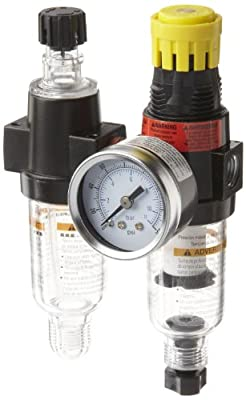 Parker 14G Miniature Series Two-Unit Combo Compressed Air Filter/Regulator/Lubricator, NPT