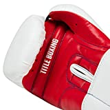 Title Boxing Essential Boxing Gloves, White/Red, 16